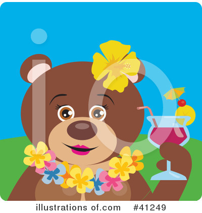 Royalty-Free (RF) Bear Clipart Illustration by Dennis Holmes Designs - Stock Sample #41249