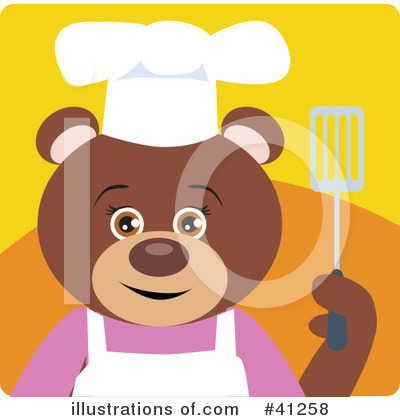 Royalty-Free (RF) Bear Clipart Illustration by Dennis Holmes Designs - Stock Sample #41258