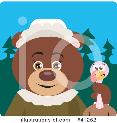 Royalty-Free (RF) Bear Clipart Illustration by Dennis Holmes Designs - Stock Sample #41262