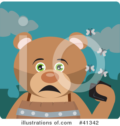 Royalty-Free (RF) Bear Clipart Illustration by Dennis Holmes Designs - Stock Sample #41342