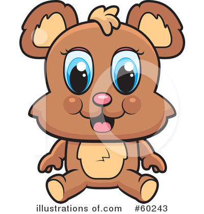 Royalty-Free (RF) Bear Clipart Illustration by Cory Thoman - Stock Sample #60243