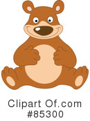 Royalty-Free (RF) Bear Clipart Illustration #85300