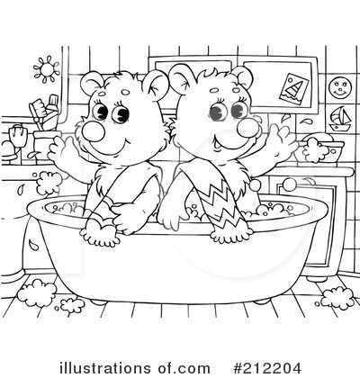 Bath Time Clipart #212204 by Alex Bannykh