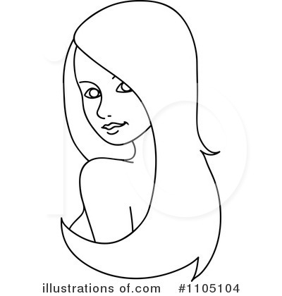 Wig Clip Art Black And White Clipart illustration byWig Clip Art Black And White