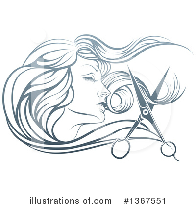 Hair Clipart #1367551 by AtStockIllustration