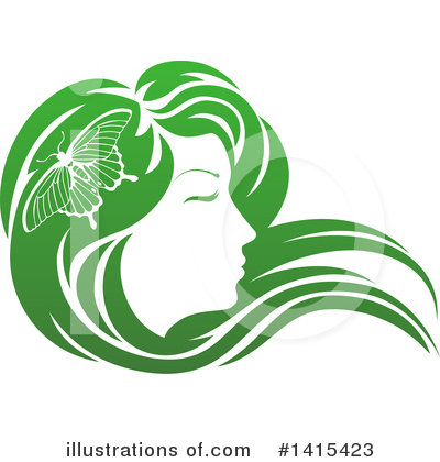 Hair Clipart #1415423 by AtStockIllustration