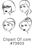 Royalty-Free (RF) beauty Clipart Illustration #73803