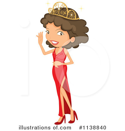 Royalty-Free (RF) Beauty Queen Clipart Illustration by colematt ...