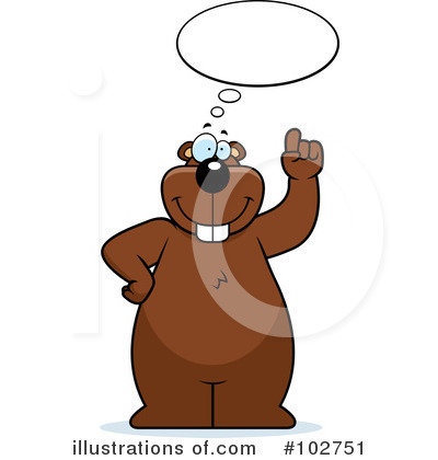 Royalty-Free (RF) Beaver Clipart Illustration by Cory Thoman - Stock Sample #102751