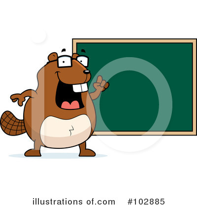 Beaver Clipart #102885 by Cory Thoman