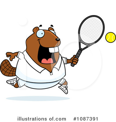 Tennis Clipart #1087391 by Cory Thoman