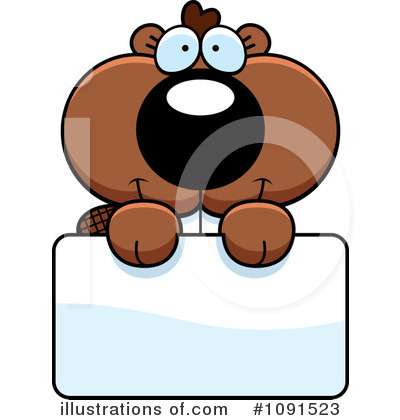 Beaver Clipart #1091523 by Cory Thoman