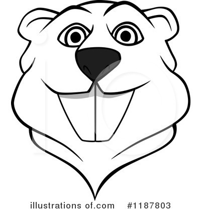 Beaver Clipart #1187803 by Vector Tradition SM