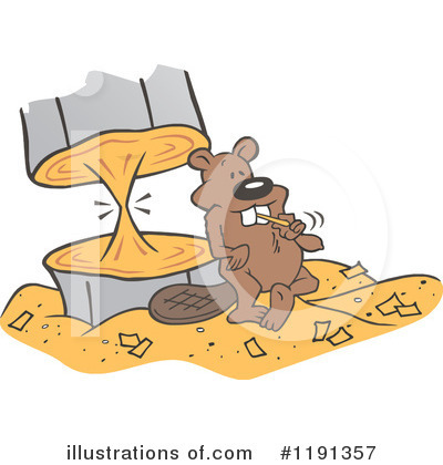 Beaver Clipart #1191357 by Johnny Sajem