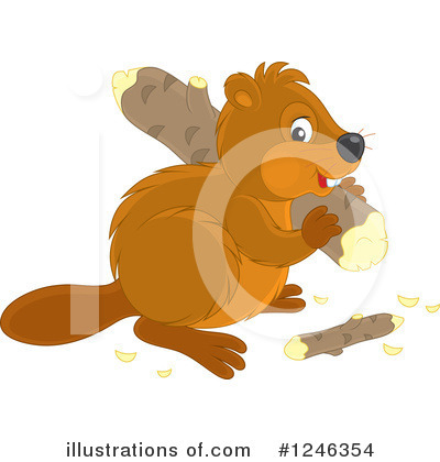 Beaver Clipart #1246354 by Alex Bannykh