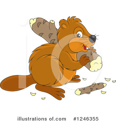 Beaver Clipart #1246355 by Alex Bannykh