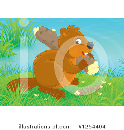 Beaver Clipart #1254404 by Alex Bannykh