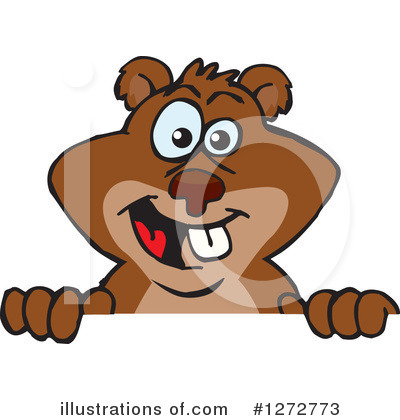 Beaver Clipart #1272773 by Dennis Holmes Designs