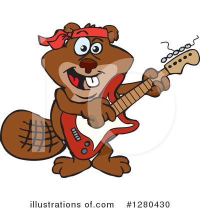 Beaver Clipart #1280430 by Dennis Holmes Designs