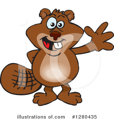 Beaver Clipart #1280435 by Dennis Holmes Designs