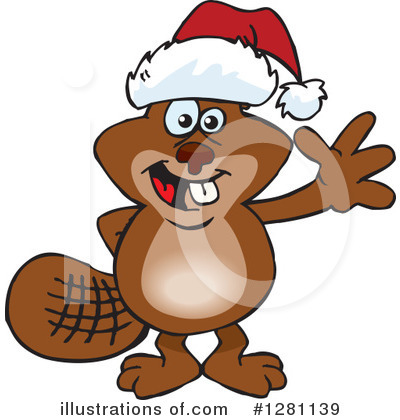 Beaver Clipart #1281139 by Dennis Holmes Designs