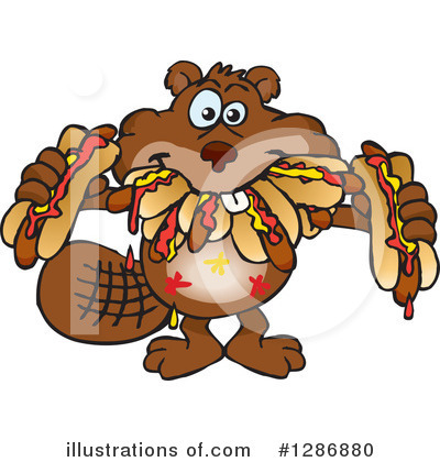 Beaver Clipart #1286880 by Dennis Holmes Designs