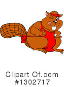 Beaver Clipart #1302717 by LaffToon