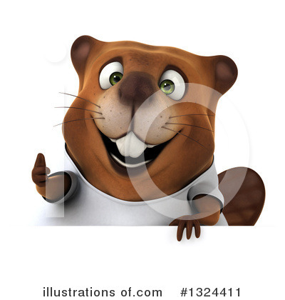 Beaver Clipart #1324411 by Julos