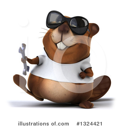 Beaver Clipart #1324421 by Julos
