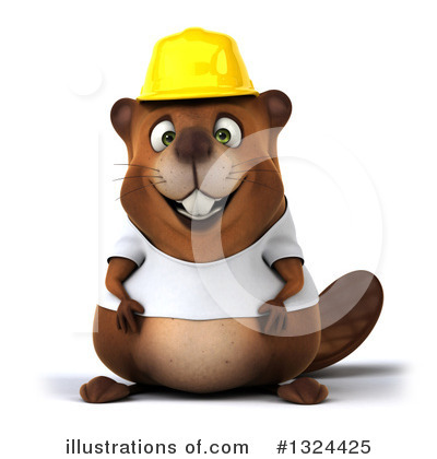Royalty-Free (RF) Beaver Clipart Illustration by Julos - Stock Sample #1324425