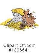 Beaver Clipart #1396641 by Johnny Sajem