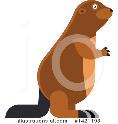 Beaver Clipart #1421193 by Vector Tradition SM
