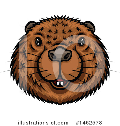 Royalty-Free (RF) Beaver Clipart Illustration by Vector Tradition SM - Stock Sample #1462578
