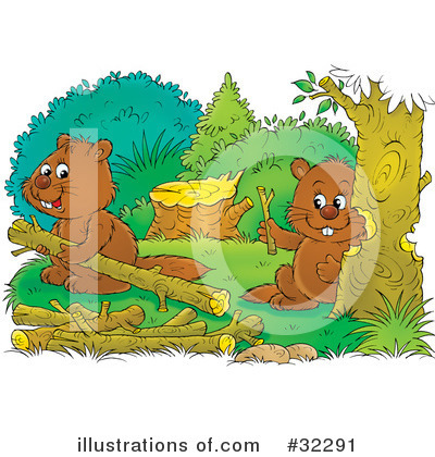 Royalty-Free (RF) Beaver Clipart Illustration by Alex Bannykh - Stock Sample #32291