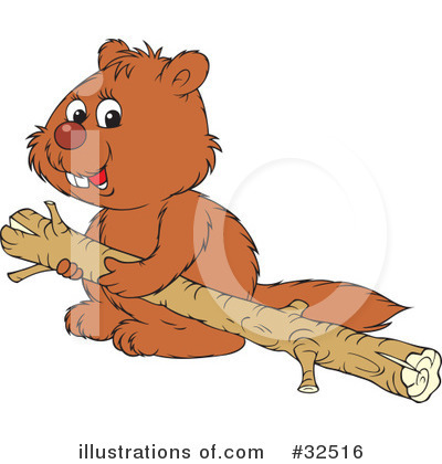 Beaver Clipart #32516 by Alex Bannykh