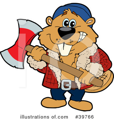 Beaver Clipart #39766 by Dennis Holmes Designs