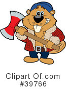 Royalty-Free (RF) beaver Clipart Illustration #39766