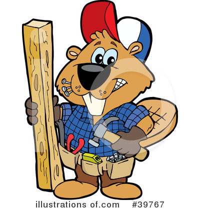 Beaver Clipart #39767 by Dennis Holmes Designs