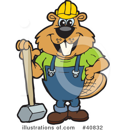 Beaver Clipart #40832 by Dennis Holmes Designs