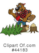 Royalty-Free (RF) beaver Clipart Illustration #44183