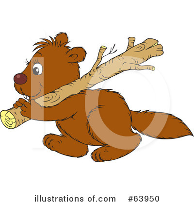 Beaver Clipart #63950 by Alex Bannykh