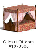 Royalty-Free (RF) Bed Clipart Illustration #1073500