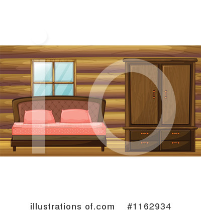 Royalty-Free (RF) Bed Clipart Illustration by Graphics RF - Stock Sample #1162934