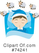Royalty-Free (RF) Bed Time Clipart Illustration #74241