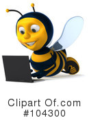 Bee Character Clipart #104300 by Julos