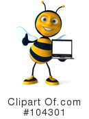 Bee Character Clipart #104301 by Julos