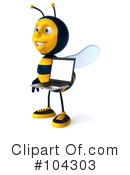 Bee Character Clipart #104303 by Julos