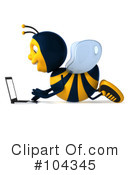 Bee Character Clipart #104345 by Julos