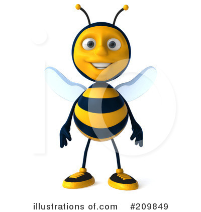 Bee Clipart #209849 by Julos