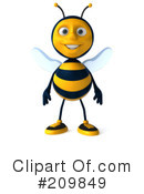 Royalty-Free (RF) Bee Character Clipart Illustration #209849